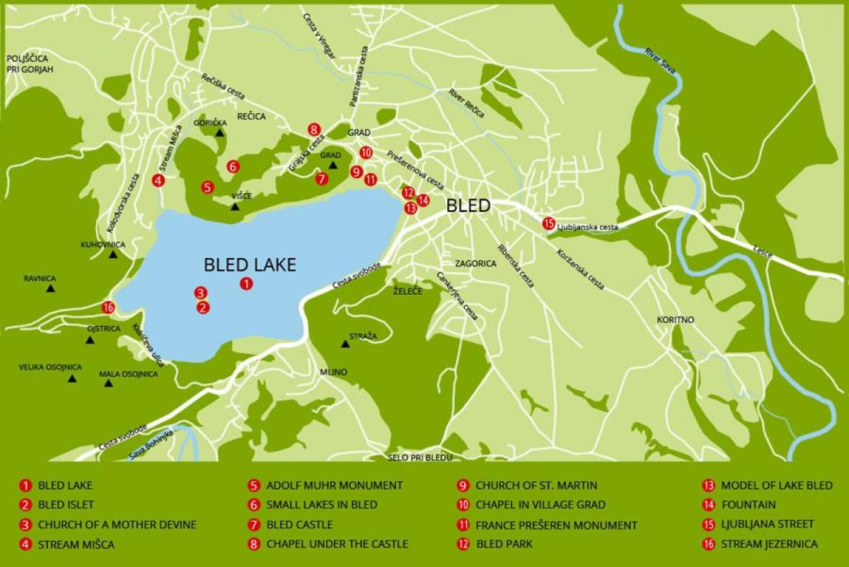 Lake bled Slovenia map - Map of Slovenia showing lake bled ...