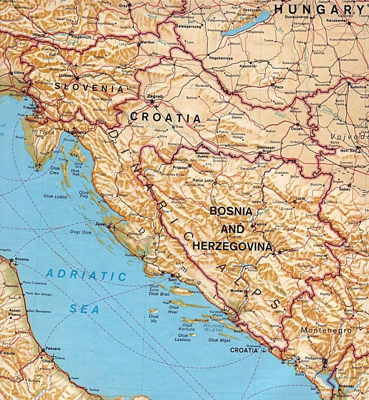 map showing Slovenia