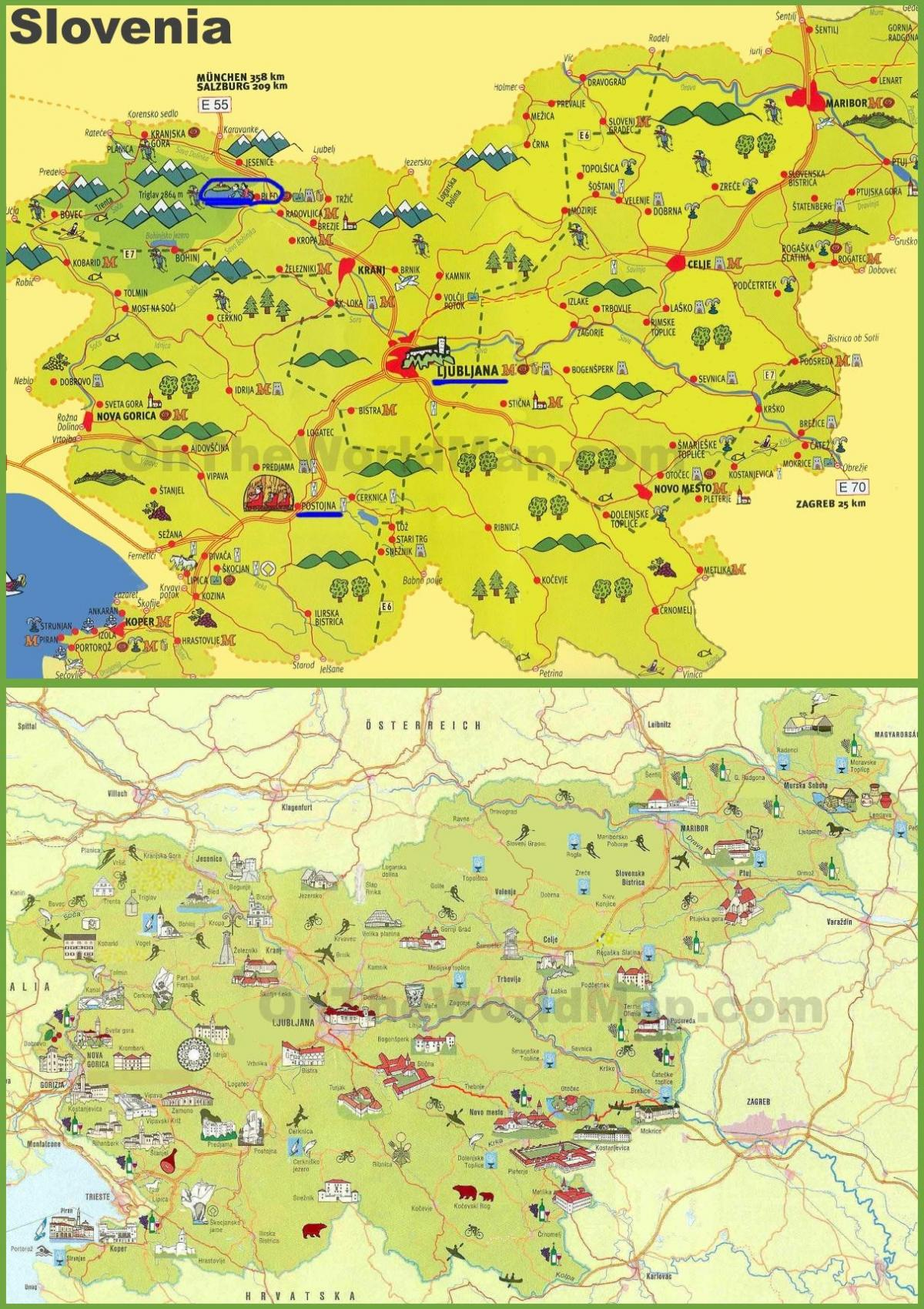 Slovenia travel map