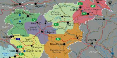 Slovenia country map