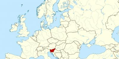 Slovenia location on world map